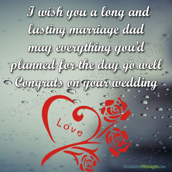 Best Wishes For Bride To Her Dad Photo