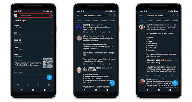 Mencari Tweet Yang Banyak Retweet Atau Liked