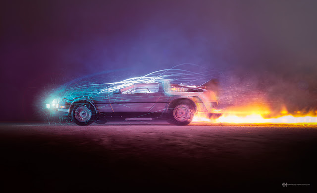 DeLorean-back-to-the-future-felix-hernandez-efectos-visuales