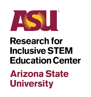 ASU Research for Inclusive STEM Education (RISE) Center logo in maroon and black