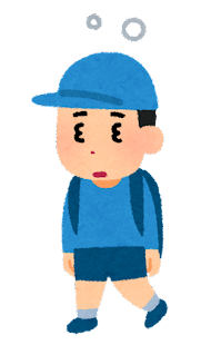 時差ボケのイラスト(男の子)