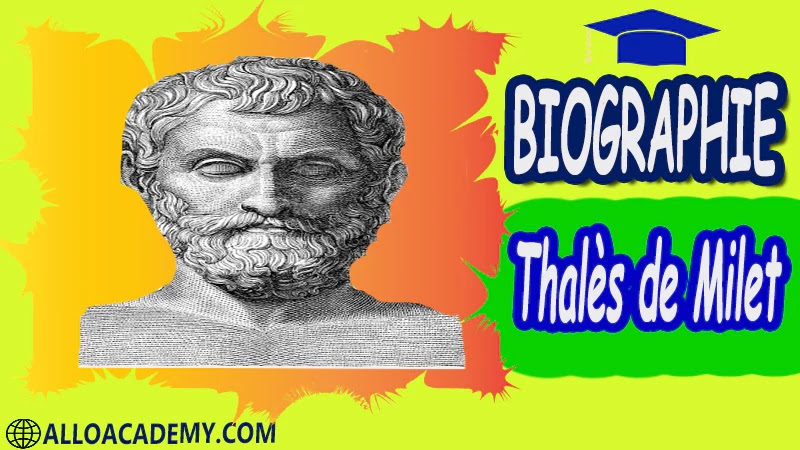 Thalès de Milet (vers 624 - 548 av. J.C.)- biographie Astronome, philosophe et mathématicien grec autobiographie autobiographie livre écrire une autobiographie biographie a lire autobiographiques livre autobiographique gratuit