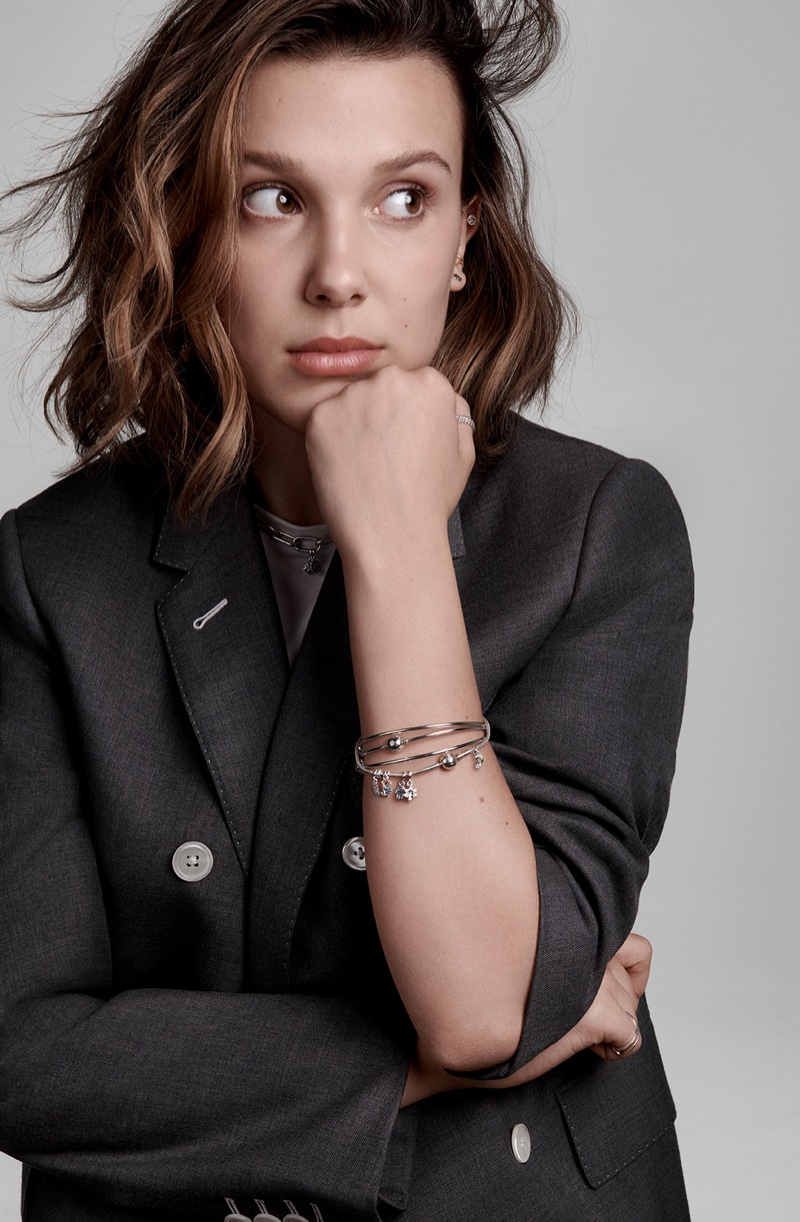 Actress Millie Bobby Brown appears in Pandora Me jewelry campaign