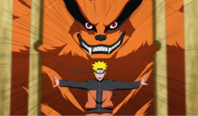 Naruto e sua nove caldas