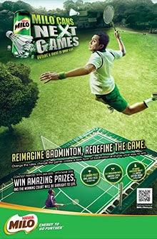 Nestl 233 Milo Next Games Reimagine Badminton Contest