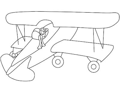 Gambar Mewarnai Pesawat Terbang - 6