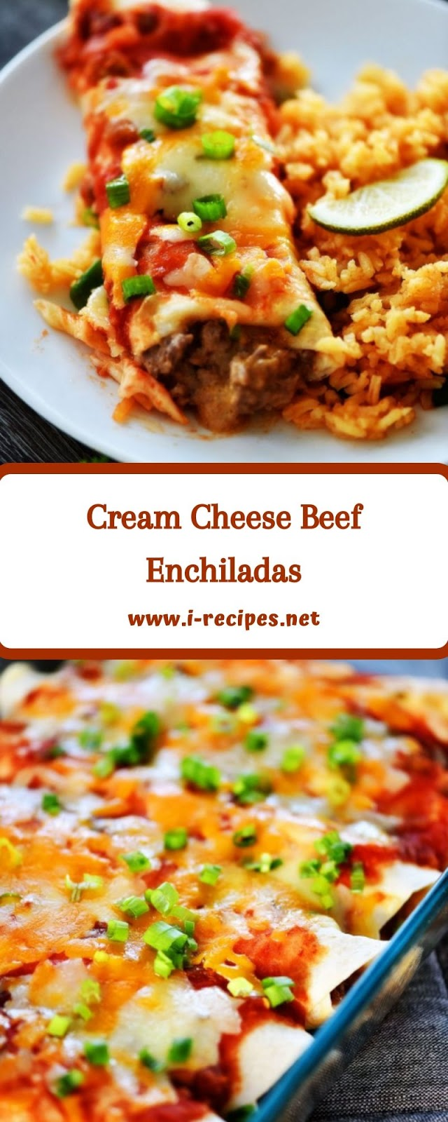 Cream Cheese Beef Enchiladas