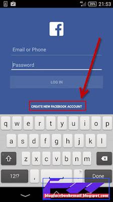 Cara daftar facebook di android