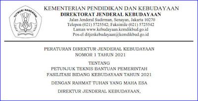 Bantuan Pemerintah Fasilitasi Bidang Kebudayaan