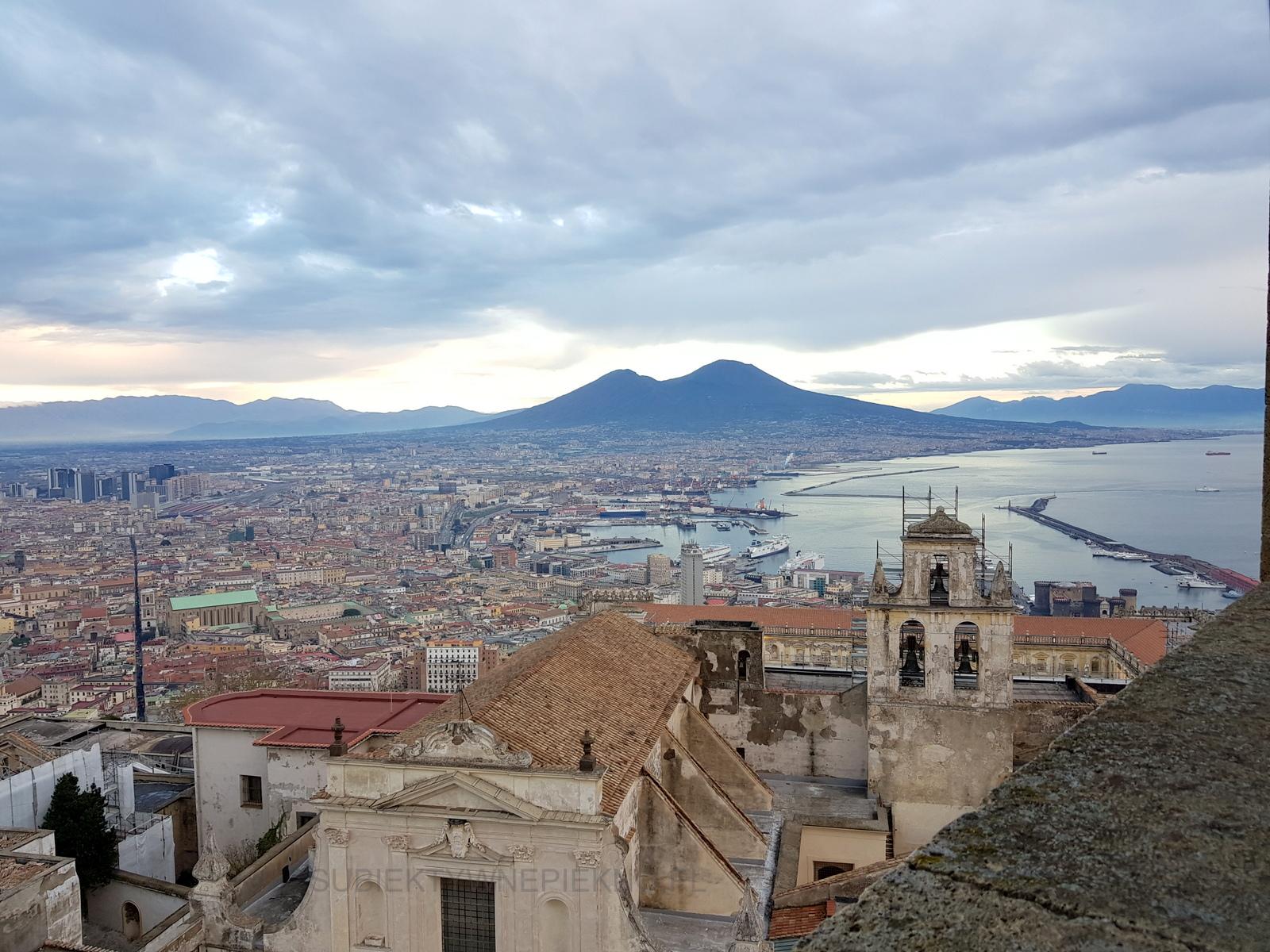 Widok na Neapol z zamku Sant'Elmo