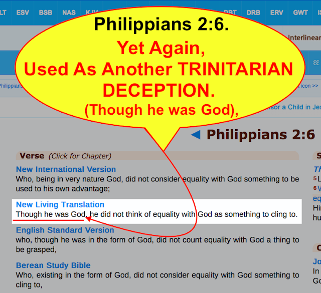 Philippians 2:6. Yet Again Used As Another TRINITARIAN DECEPTION and misunderstanding.