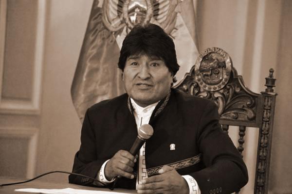 Evo Morales declara emergencia nacional port sequía y déficit hídrico
