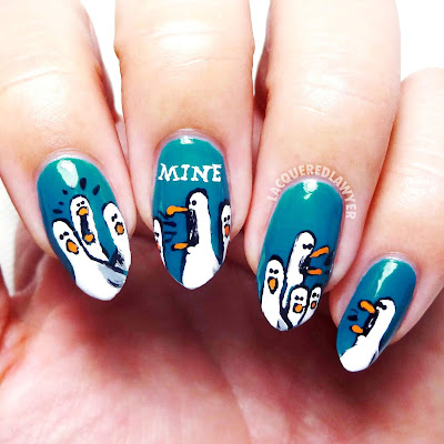 Finding Nemo Seagull Nails