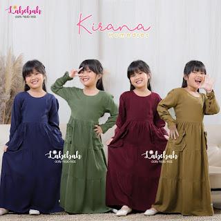 Koleksi Baju Gamis anak LABEBAH Terbaru Kirana