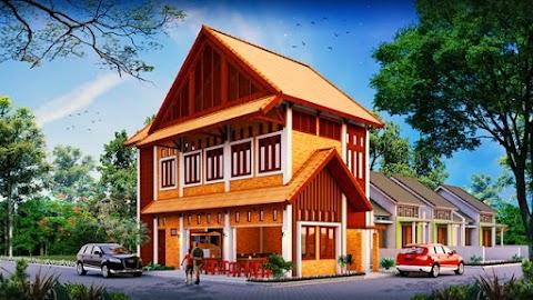 Desain Rumah Terintegrasi dengan Warteg   Jasa Desain Rumah Minimalis by Archirecon