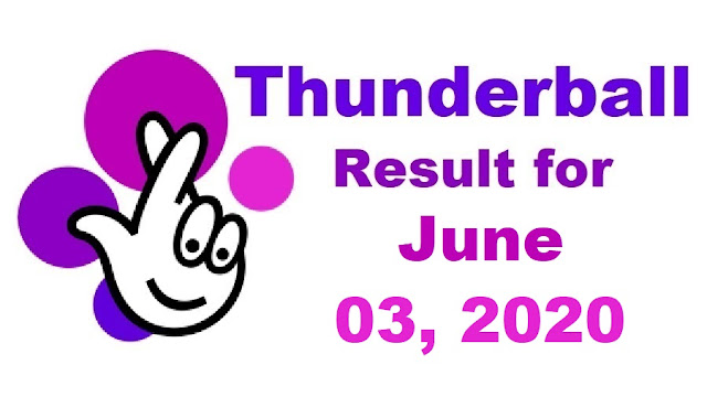 Thunderball Results for Wednesday, June 02, 2020