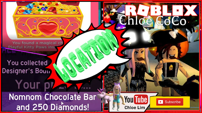 Roblox Royale High Halloween Event Gameplay! Chest - Playful Kitty Paws! & Arctxics Homestore! Nomnom Chocolate Bar! Candy Locations!