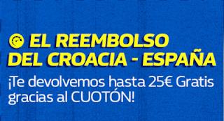 william hill Reembolso Cuotón Croacia vs España 15 noviembre