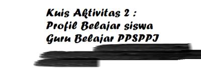 gambar kuis aktivitas 2 : profil belajar siswa