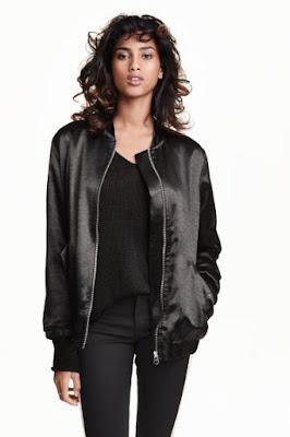 bomber jacket H&M nowa kolekcja trendy 2016 co kupić na wiosnę blog modowy