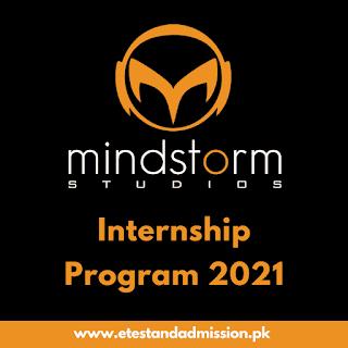 Mindstorm Studio Internship Program 2021