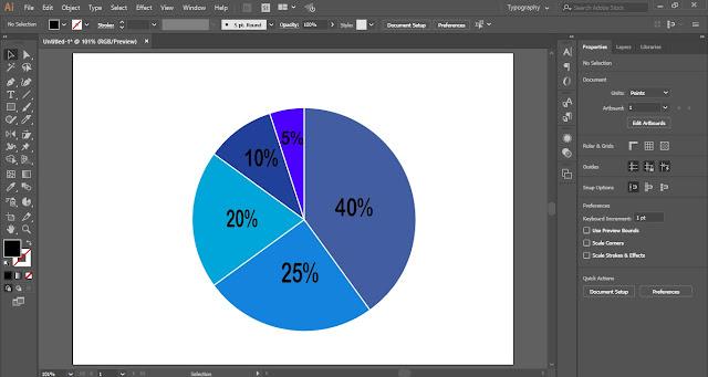 Pie-Chart in Adobe Illustrator