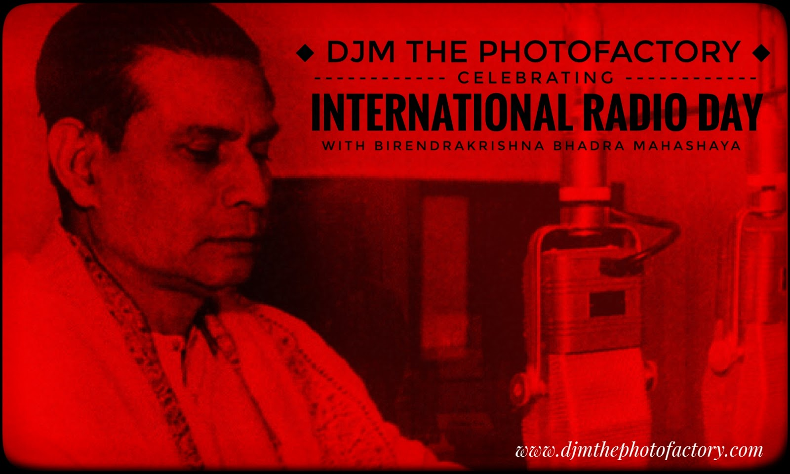Birendra Krishna Bhadra Famous Bengali Radio FM radio jockey on National Radio day August 20
