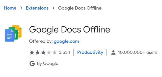 Google Sheet Offline