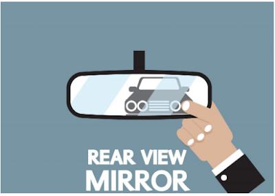 menyetel kaca spion tengah mobil untuk meminimalisir blind spot