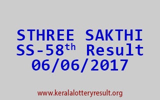 STHREE SAKTHI Lottery SS 58 Results 6-6-2017