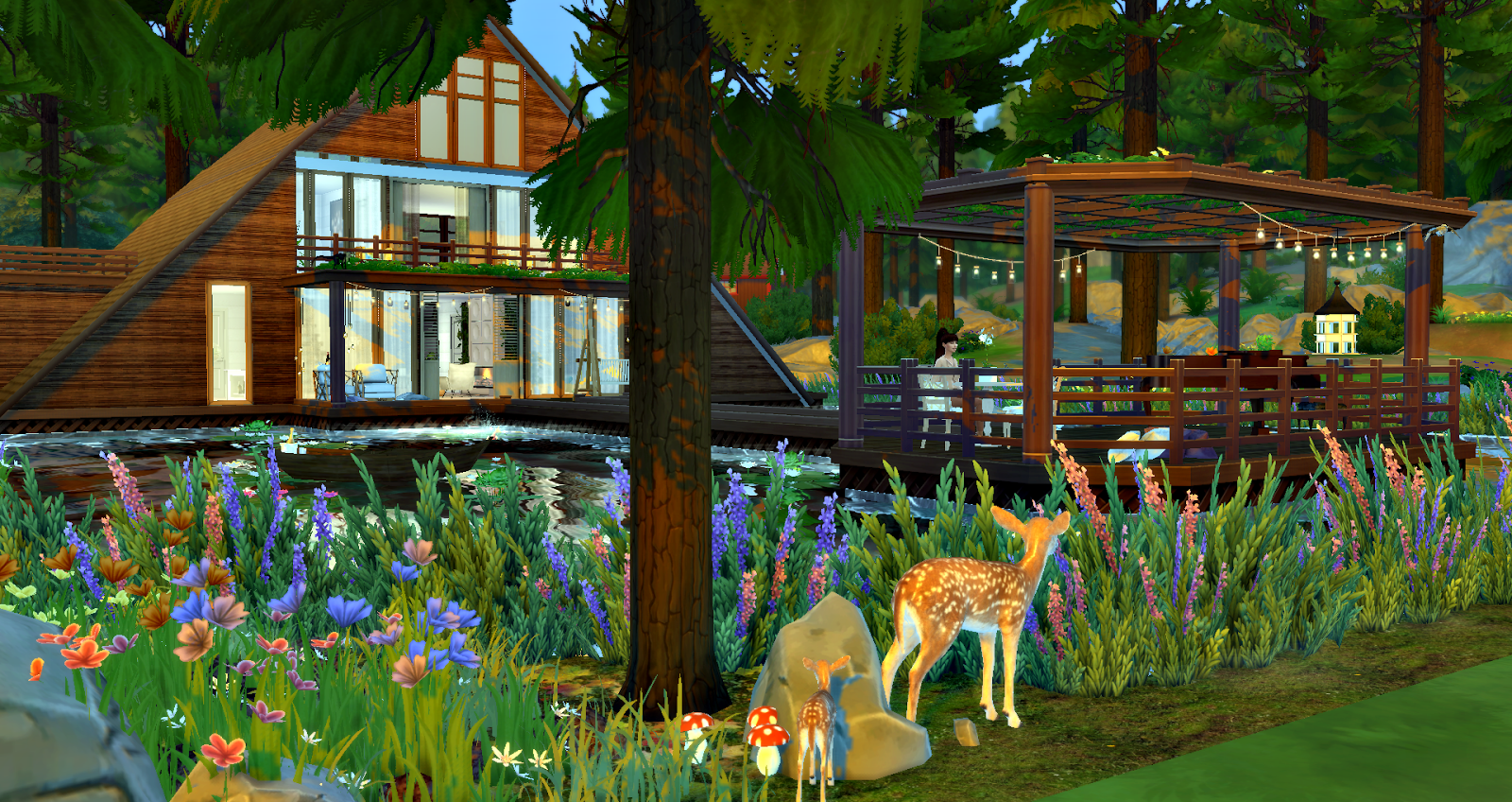 sims 4 cc's - the best: lake house by lily sims, Badezimmer ideen