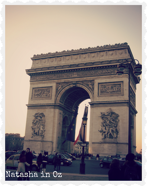 Say G'day Saturday Linky Party, Dreaming of Paris, Natasha in Oz, Arc de Triomphe image