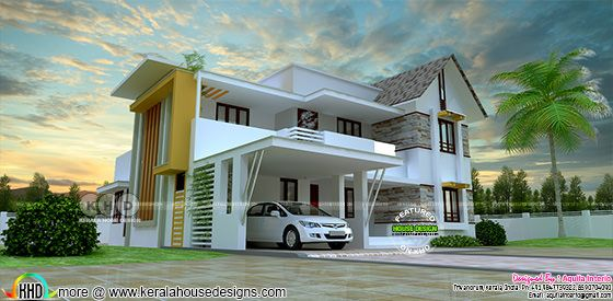 296 square yard, 4 bedroom mixed roof home