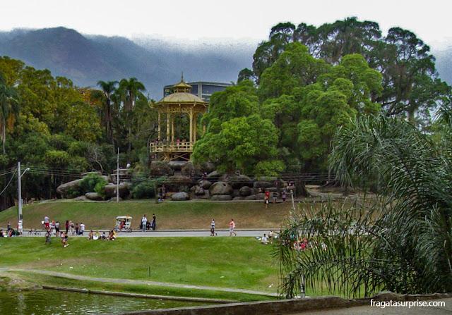Jardins e lago da Quinta da Boa Vista