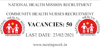 NHM Community Health Nurse Vacancies Arunachal Pradesh
