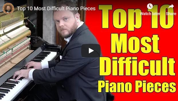 Top 10 das peças de piano mais difíceis