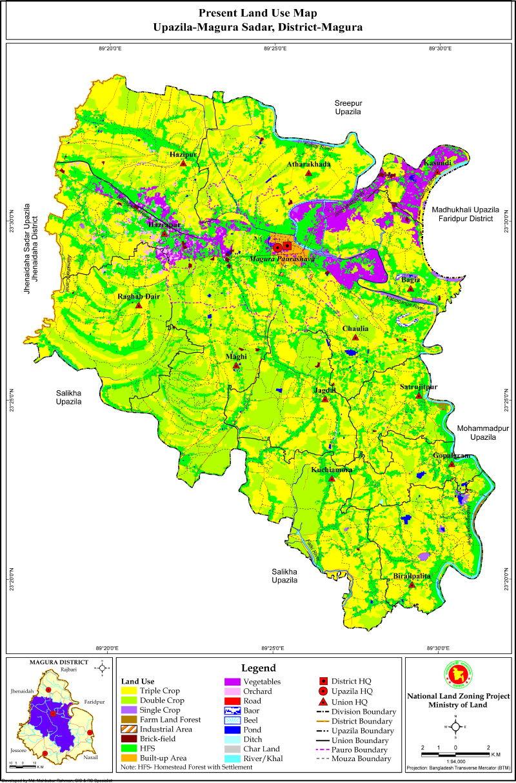 Magura Sadar Upazila Mouza Map Magura District Bangladesh