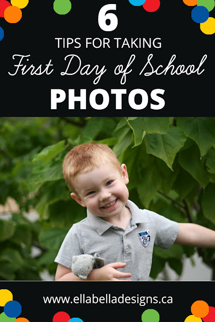 First Day of School Photo Smiling Boy