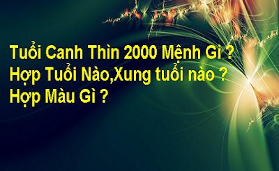 Tu Vi Canh Thin 2000