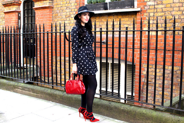 Emma Louise Layla in black Barbour fedora hat - London fashion blogger