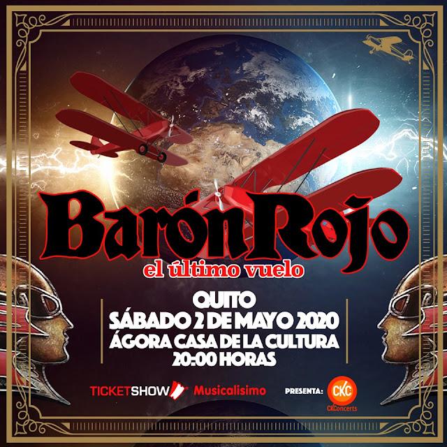 concierto de baron rojo en Ecuador