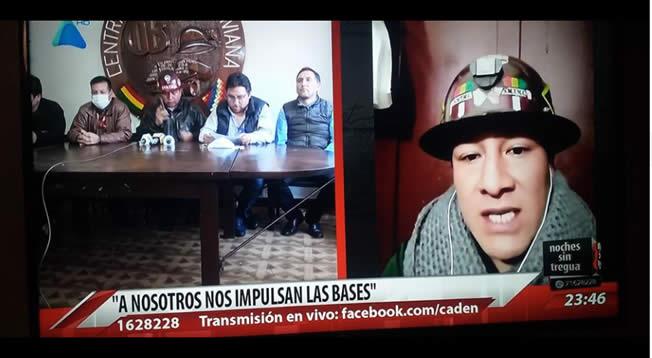 Dirigentes radicales y el cobarde de Evo Morales están organizando la muerte lenta de muchos bolivianos