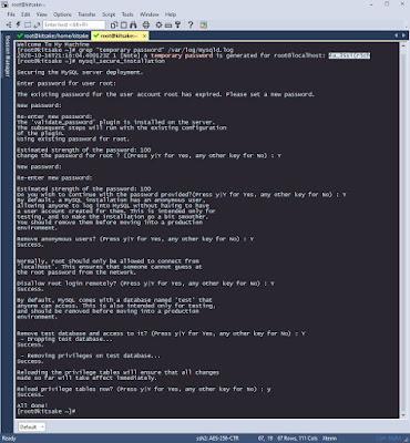 configure of mysql