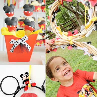 A Beautiful Mickey Inspired 2nd Birthday Party