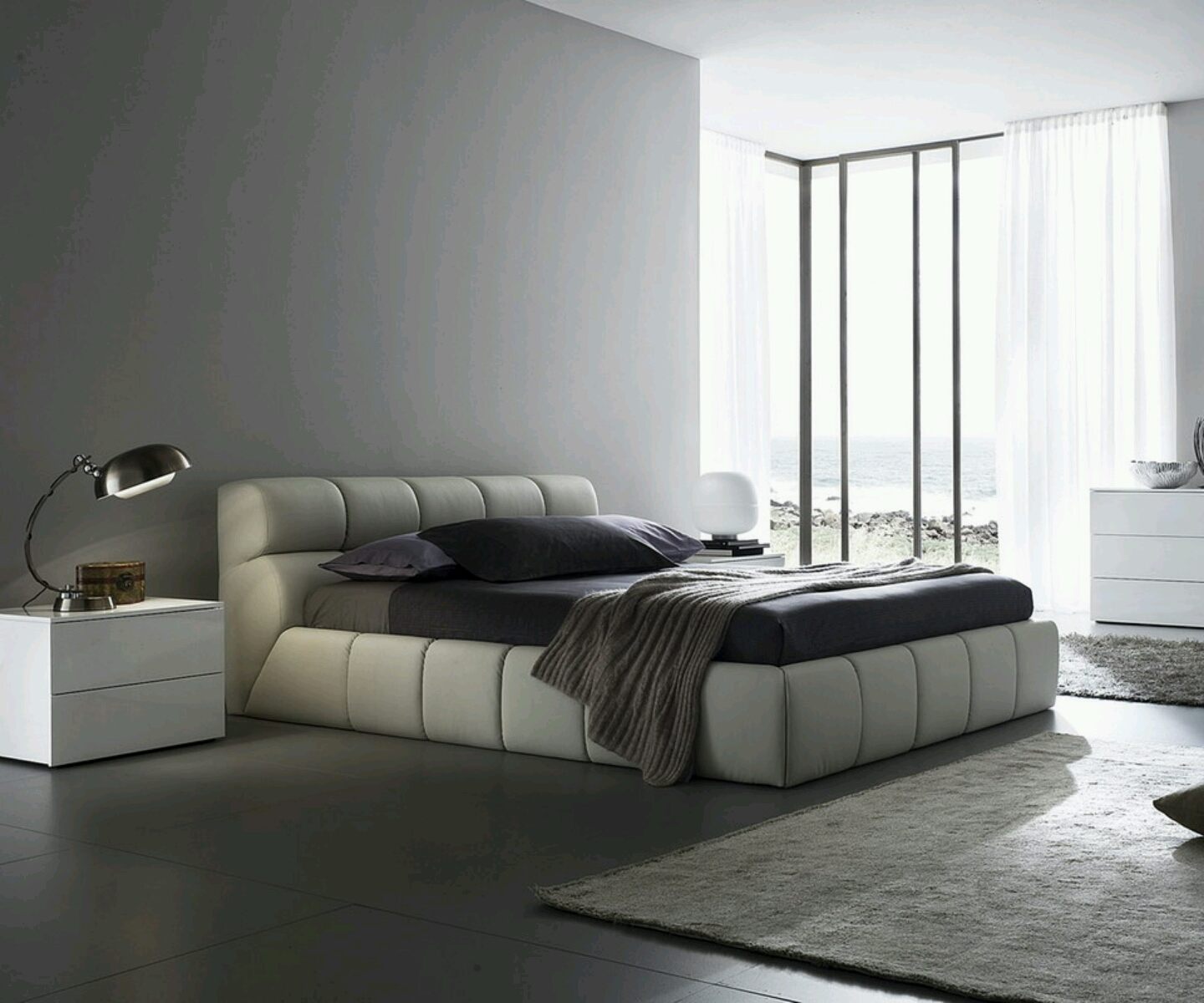 Contemporary Furniture Bed: Modern Furniture: Modern Bed Designs Beautiful Bedrooms