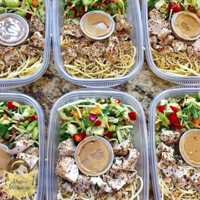 Grab and Go Thai Peanut Chicken Noodle Bowls_menumusings.com