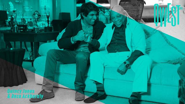 Idées Cadeaux QWest TV Quincy Jones Reza Ackbaraly