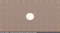 27.07.2018 godz. 20:24 CEST, widok dla Rzeszowa. Kontakt U1 - początek zaćmienia częściowego, około 1,5 stopnia nad horyzontem, krótko po wschodzie.