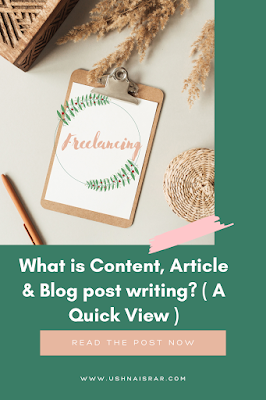 Article, blog & content writing
