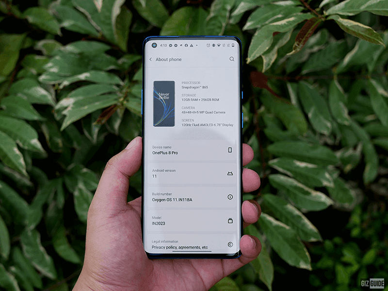 OnePlus 8 Pro PH units receives stable OxygenOS 11 update